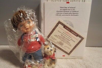 Official McDonalds Collectible Memories First Day of School New With COA Mc KIDS