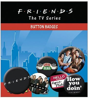 Friends Characters central park New Official Badge Pack (4x 25mm & 2x 32mm)