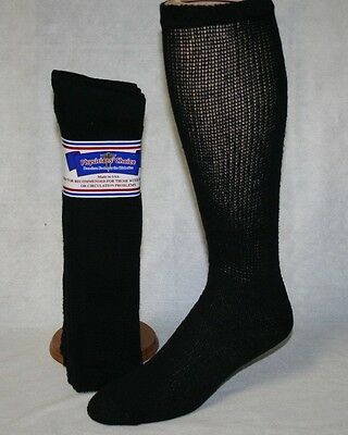 3 Pairs Physicians Choice Over The Calf Cushioned Diabetic Socks 10-13 Made Usa