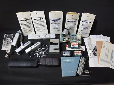 MINOX C with Accessories Film Flash Clamp Case Mailers Instructions
