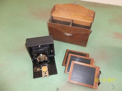 Old Camera with Brown leather case