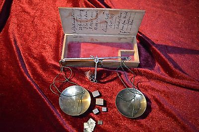 Original Apothecaries scales from Limerick Castle Kitchens