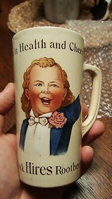 1900's Drink Hires Root Beer-Mug-Ugly Boy-Stamped Germany-Villeroy & Bock-2327