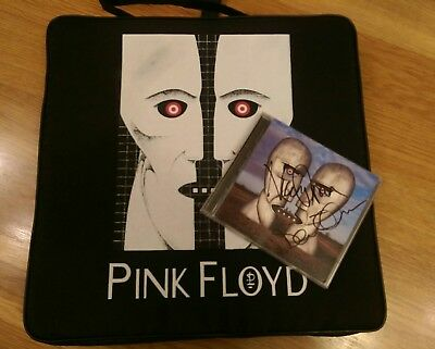 Pink Floyd: Division Bell Signed CD & 1994 USA Tour Stadium Seat Cushion