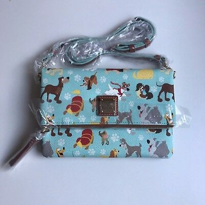 Disney Dogs Dooney & Bourke Foldover Zip Crossbody Handbag Max Sultan Fifi Tramp