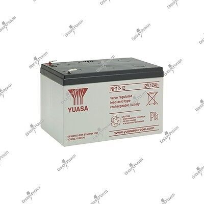 Battery solar lead watertight YUASA NP12-12 12V 12AH 151X98X97.5