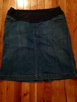 GAP Denim  Maternity Skirt Sz 12 large
