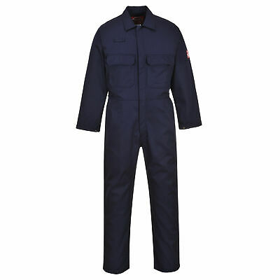 Portwest UBIZ1 Bizweld Flame Resistant Coverall, Navy NFPA 70E, NFPA 2112