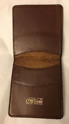 Vintage Brown Leather Coca Cola Bifold Wallet