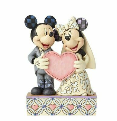 Jim Shore Disney Traditions MICKEY AND MINNIE MOUSE WEDDING - TWO SOULS, ONE ...