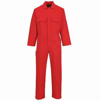 Portwest UBIZ1 Bizweld Flame Resistant Coverall, RED NFPA 70E, NFPA 2112