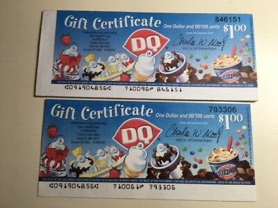 Lot of 11- 2005 Dairy Queen Gift Certificates