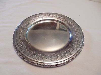 Wallace RW&S Sterling 6 ¼ Inch Ornate Plate 113.5 Grams