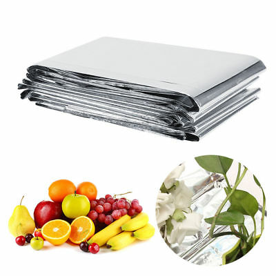 "1/5/10PCS 82x47"" Silver Plant Reflective Film Grow Light Accessories Greenhouse"