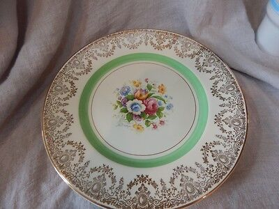 "Set of 4 Vintage Myott Staffordshire Plate Pattern 2745 Flowers 10.5"" Great Cond"