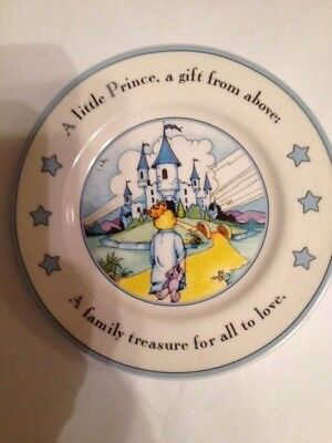 Mud Pie Little Prince/ Baby Boy 7-inch plate