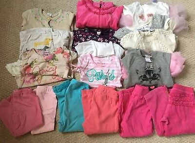 Lot of 17 Item Toddler Girl Size 2T Clothes Fall - Winter