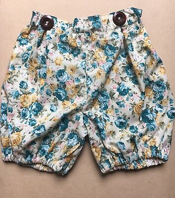 Handmade Floral Shorts Size 2-3yrs