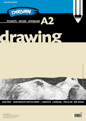 Drawing Pad White 140gsm 20 sheets A2