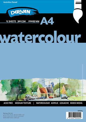 Water Colour Pad White 300gsm 15 sheets A4