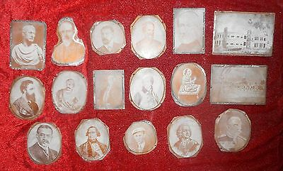 17 Vintage Letterpress printing copper block with image of famous Personalities