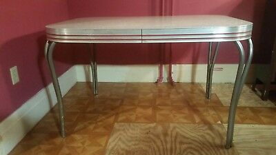 Vintage Mid Century Retro Formica Kitchen Table Dinette Original Condition