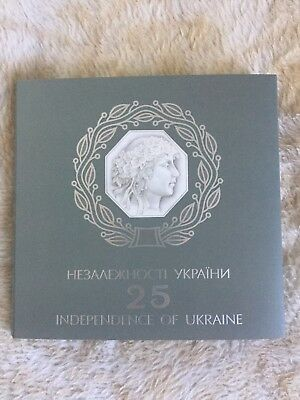 2016 UKRAINE Set Of 4 Coins,25 YEARS Of INDEPENDENCE,PROOF!!!!