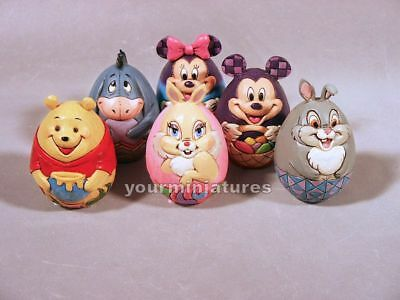 Jim Shore Disney Traditions 6 Character Eggs  New 2017 Mickey Pooh Eeyore & More