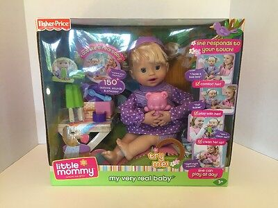 Fisher Price LITTLE MOMMY My Very Real Baby New In Box 150+ Phrases!