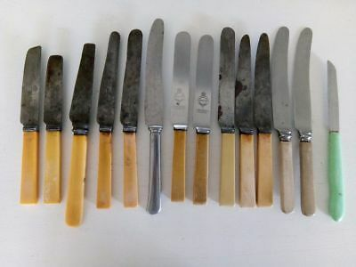 X14 Lot of Faux Bone Handled Knives assorted makers