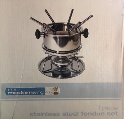 Fondue Set, Stainless Steel As New In Box