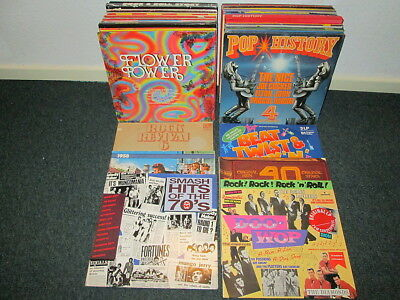 80 LPs VARIOUS ARTISTS - 60s 70s - Beat - Rock - Rock N Roll - Pop SAMMLUNG