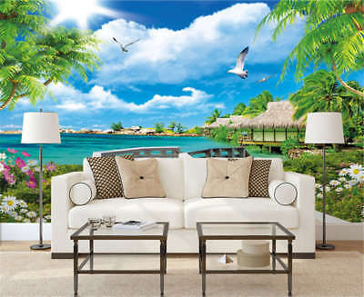 Broad Quiet Coast 3D Full Wall Mural Photo Wallpaper Printing Home Kids Decor