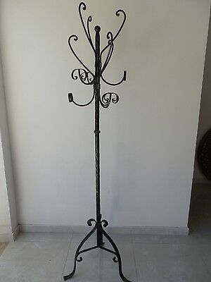 Coat Hangers Hanger Wrought Iron Stand 6 Places