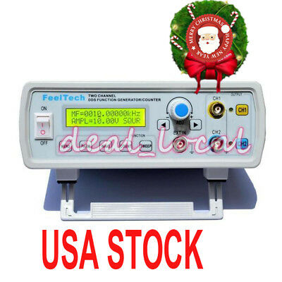 2MHz Dual Channel DDS Function Signal Generator Wave Sweep & Counter
