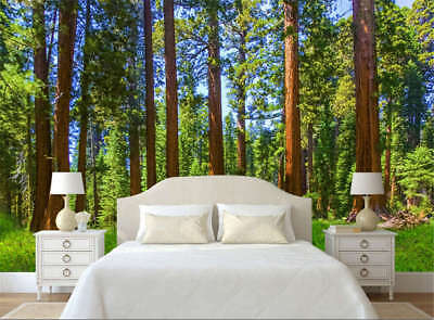 Erect Ethnic Woods 3D Full Wall Mural Photo Wallpaper Printing Home Kids Decor