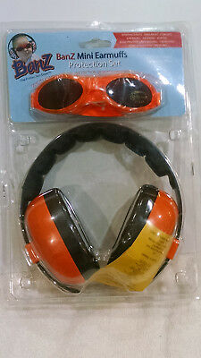 BANZ KIDS BABY INFANT EARMUFFS SOUND EARS PROTECTION PROTECTOR n GLASSES ORANGE