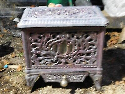 Scott Vintage antique old Cast iron enamel French Stove multi fuel wood burner