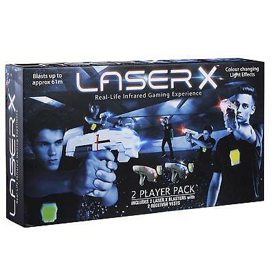 Laser X - 2 Player Pack (Inc 2 Laser X blasters and 2 receiver vests)