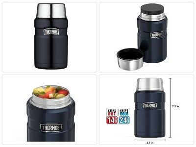 Thermos Soup Coffee Travel Mug Insulated Food Jar Hot Cold Stainless Steel 24 Oz