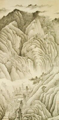 """Chinese Hanging Scroll Painting 75"""" Big Landscape Art Old Ink China Antique c044"""