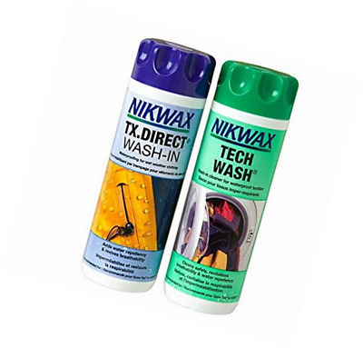 Nikwax Tech Wash and TX Direct Twin Pack High Waterproof Clothing Textile