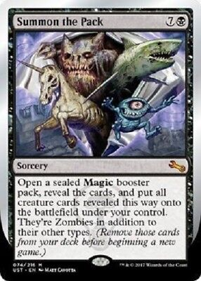 Summon the Pack Mythic Rare Unstable MTG Magic The Gathering