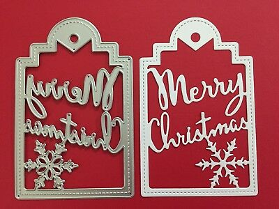 NEW• MERRY CHRISTMAS TAG DIE For Cuttlebug Or Sizzix