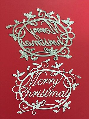 NEW• MERRY CHRISTMAS OVAL DIE For Cuttlebug Or Sizzix