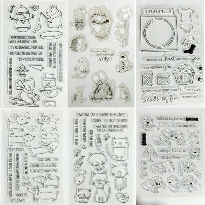 DIY Transparent Clear Silicone Stamp Seal for DIY Scrapbooking Photo Album Decor