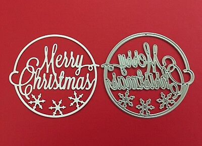 NEW• MERRY CHRISTMAS CIRCLE DIE For Cuttlebug Or Sizzix