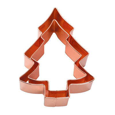 Eddingtons Copper Xmas Tree Cookie Cutter Set of 2 Festive Christmas Baking Fun