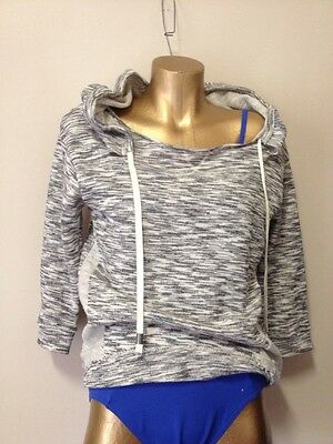 BLOCH 100% cotton hooded jumper dance yoga near new condition ladies size 8