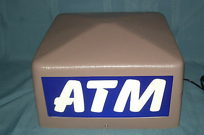 NEW ATM Box Sign Lighted 4 Sides  120v 4 prong conn. Fluorescent Bulb included